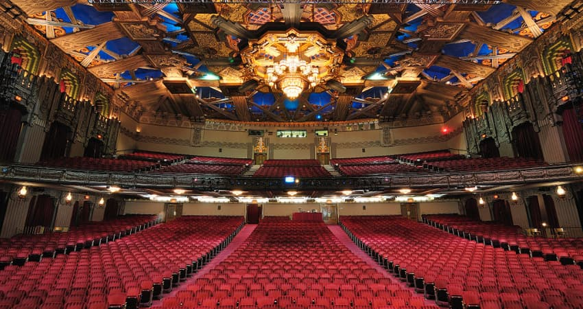 inside the Pantanges Theatre in Los Angeles