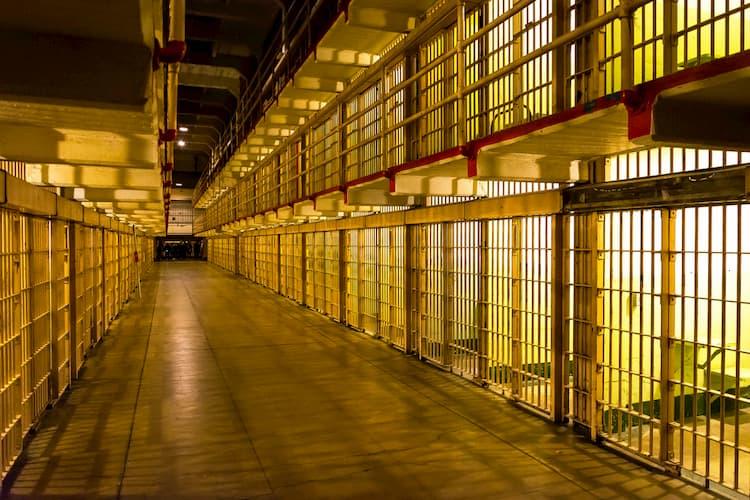 The cells inside Alcatraz prison