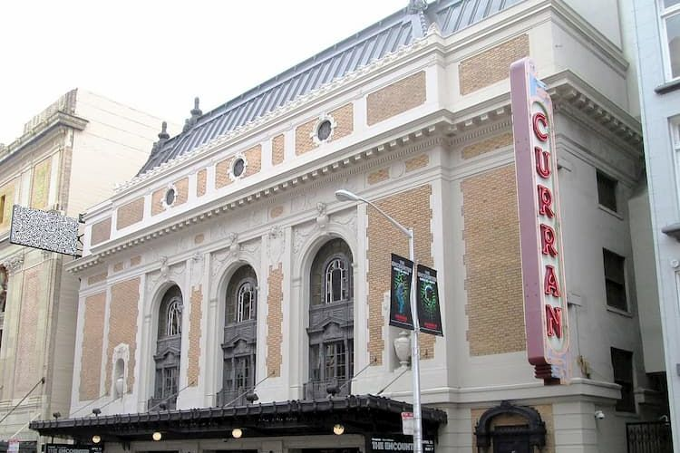 The Curran Theatre exterior with sign