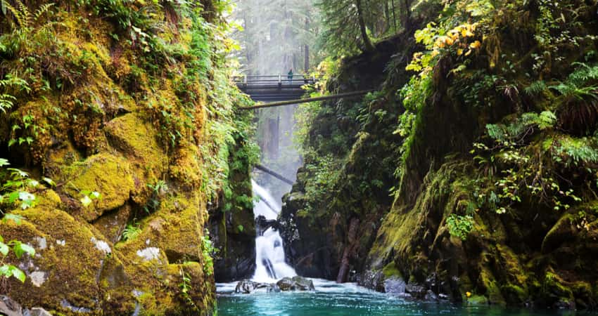 Sol Duc waterfalls in Olympic National Park
