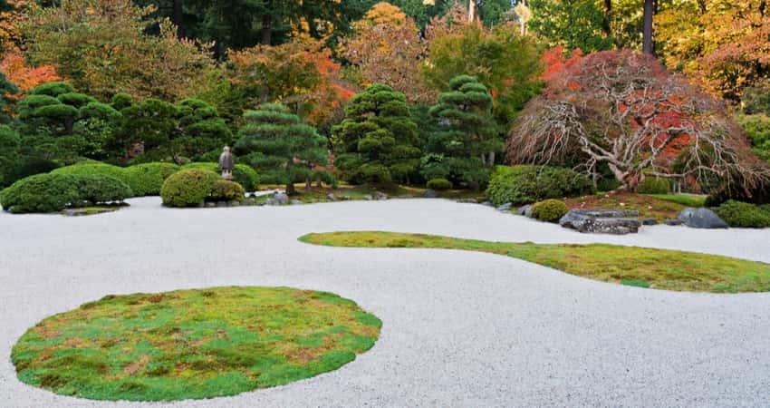 The flat garden in the Portland Japanese Garden