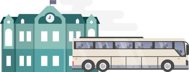School Event Charter Bus Minibus Rental Champion Charter Bus