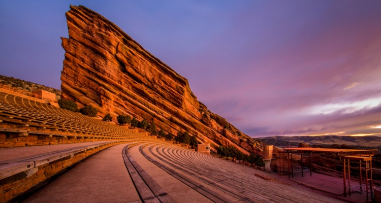 red rocks amphitheater denver champion charter bus